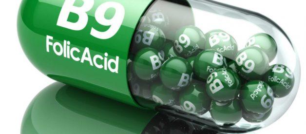 Axit folic là 1 dạng Vitamin B9 tổng hợp